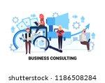 businesspeople using gadgets... | Shutterstock .eps vector #1186508284