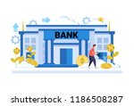 businessman watering dollar... | Shutterstock .eps vector #1186508287