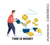 businessman watering dollar... | Shutterstock .eps vector #1186508311