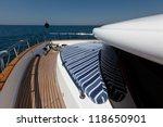 luxury boat at sea