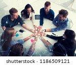 teamwork and brainstorming... | Shutterstock . vector #1186509121