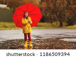 happy child girl with an... | Shutterstock . vector #1186509394