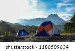 outdoor camping scenery with... | Shutterstock . vector #1186509634