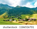 A view of the area around Malbun the only ski resort in Liechtenstein - stock photo