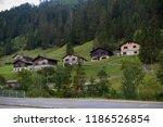a view of steg a small village... | Shutterstock . vector #1186526854