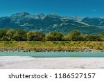 a view across the river rhine... | Shutterstock . vector #1186527157