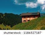 a view of steg a small village... | Shutterstock . vector #1186527187