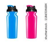 plastic shaker on white... | Shutterstock .eps vector #1186534684