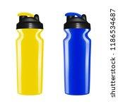 plastic shaker on white... | Shutterstock .eps vector #1186534687