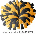 black and gold cheerleader pom... | Shutterstock .eps vector #1186535671