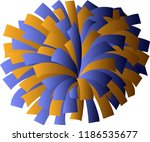 blue and orange cheerleader pom ... | Shutterstock .eps vector #1186535677