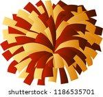 red and gold cheerleader pom pom | Shutterstock .eps vector #1186535701