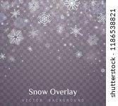 falling christmas snow.... | Shutterstock .eps vector #1186538821