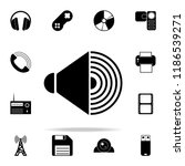 sound from speakers icon. media ...