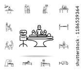 resuscitation icon. medicine... | Shutterstock .eps vector #1186539364