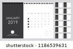 minimalist calendar design for... | Shutterstock .eps vector #1186539631