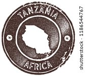 tanzania map vintage stamp.... | Shutterstock .eps vector #1186544767