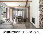 hall in modern style with... | Shutterstock . vector #1186550971