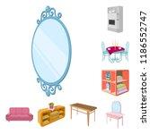 furniture and interior cartoon... | Shutterstock .eps vector #1186552747