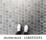 top view of selfie feet on...   Shutterstock . vector #1186553191