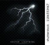 lightning flash bolt. lightning ... | Shutterstock .eps vector #1186553467