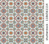 talavera pattern.  indian... | Shutterstock .eps vector #1186561114