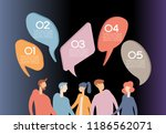 people chat in social network.... | Shutterstock .eps vector #1186562071