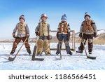 portrait of young boys hockey... | Shutterstock . vector #1186566451