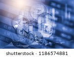 modern way of exchange. bitcoin ... | Shutterstock . vector #1186574881