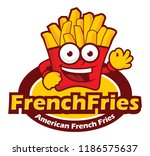 american french fries cartoon | Shutterstock .eps vector #1186575637