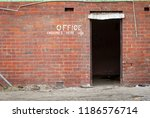 old painted sign  office... | Shutterstock . vector #1186576714