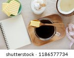 bulletproof coffee  blended... | Shutterstock . vector #1186577734