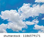 blue sky white clouds | Shutterstock . vector #1186579171