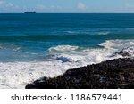 frothy foaming white backwash... | Shutterstock . vector #1186579441