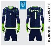 goalkeeper jersey or soccer kit ... | Shutterstock .eps vector #1186587544