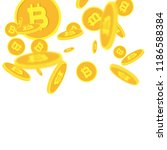 bitcoins money falling.... | Shutterstock .eps vector #1186588384