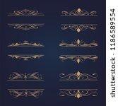 set of vintage frames ornament... | Shutterstock .eps vector #1186589554