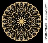 modern decorative floral color...   Shutterstock .eps vector #1186600294