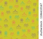 vector yellow carnival seamless ... | Shutterstock .eps vector #1186610167