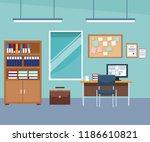 office interior scenery | Shutterstock .eps vector #1186610821
