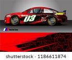 vehicle vinyl wrap design...   Shutterstock .eps vector #1186611874