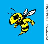 bee. bee icon. the isolated... | Shutterstock .eps vector #1186618561