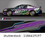 car decal design vector.... | Shutterstock .eps vector #1186619197