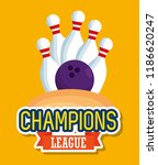 bowling champions league icons | Shutterstock .eps vector #1186620247