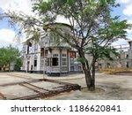 old building background... | Shutterstock . vector #1186620841