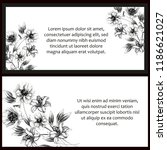 romantic wedding invitation...   Shutterstock .eps vector #1186621027