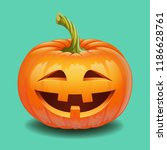 halloween pumpkin face   crazy... | Shutterstock .eps vector #1186628761