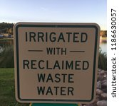 irrigated with reclaimed waste... | Shutterstock . vector #1186630057