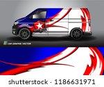 van graphic vector. abstract... | Shutterstock .eps vector #1186631971