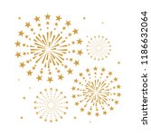 gold and bright firework on... | Shutterstock .eps vector #1186632064
